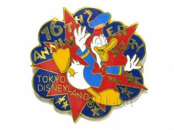 TDL 16周年記念 1999年 ドナルド 配布 ピンズ 東京ディズニーランド