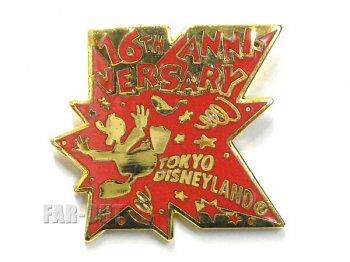 東京ディズニーランド TDL 16周年記念 1999年 ドナルド 赤 K キャスト限定 ピンズ