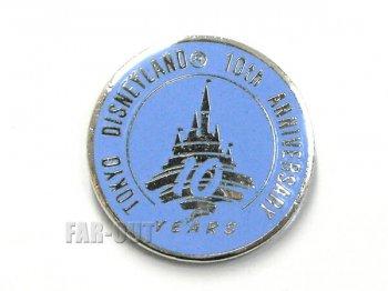 東京ディズニーランド TDL 10周年記念 1993年 水色 配布 ピンズ