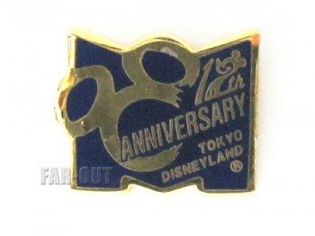 東京ディズニーランド TDL 12周年記念 1995年 紺色 M キャスト限定 ピンズ