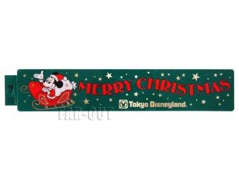 TDL クリスマス 1984年 サンタ ミッキー 横長 ステッカー 東京ディズニーランド