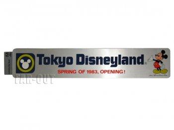 TDL SPRING OF 1983 OPENING オープン記念 ミッキー シルバー 横長 ステッカー 東京ディズニーランド