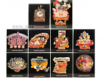 香港ディズニーランド HKDL グランドオープニング記念 2005年 限定ピンズ 10点コンプリートセット