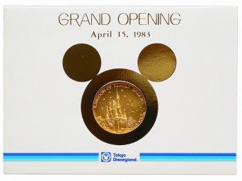 TDL グランドオープニング記念 1983年 メダル コイン キャスト限定 東京ディズニーランド