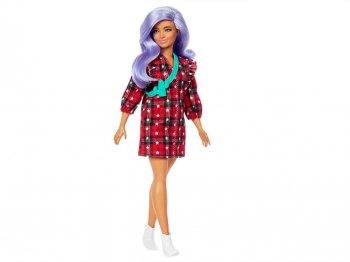 バービー ファッショニスタ ミニワンピース パープルへア Curvy カービーボディ ドール 人形 Barbie Fashionistas