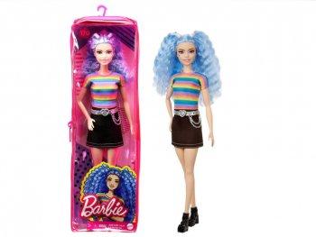 バービー ファッショニスタ レインボーカラー シャツ  ブルーヘア ドール 人形 Barbie Fashionistas