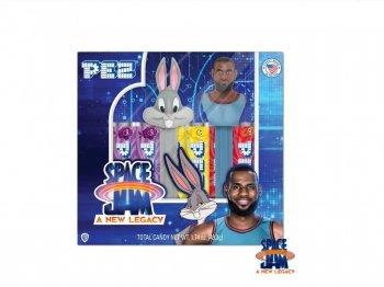 PEZ スペース・プレイヤーズ  バッグス・バニー & レブロン・ジェームズ ペッツ ボックス入り 2点セット バスケットボール ルーニー・テューンズ スペースジャム Space Jam