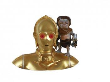 ホールマーク 2021 オーナメント C-3PO w/ バブ・フリック ライトアップ サウンド付き Star Wars C-3PO and BABU FRIK