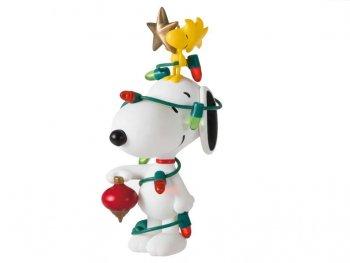 ホールマーク 2021 オーナメント スヌーピー w/ ウッドストック クリスマス電飾で着飾る ピーナッツ Peanuts Snoopy All Decked Out
