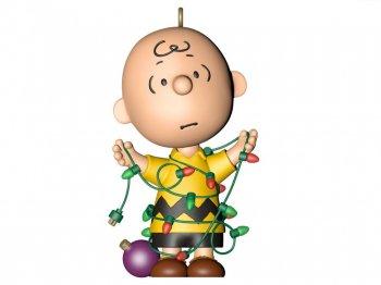 ホールマーク 2021 オーナメント チャーリーブラウン クリスマス電飾で絡まる ピーナッツ 限定版 Peanuts Charlie Brown All Tangled Up