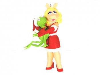 ホールマーク 2021 オーナメント マペッツ カーミット & ピギー ハグ Muppets Kermit's Holiday Hug w/ Piggy