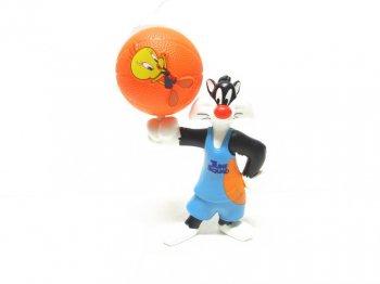 マクドナルド ハッピーセット ミールトイ スペース・プレイヤーズ 猫 シルベスター&トゥイーティー バスケットボール ルーニー・テューンズ スペースジャム Space Jam Mcdonald's