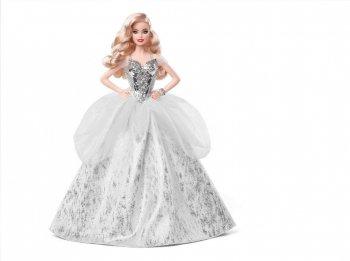 バービー ホリデーバービー 2021 クリスマス ブロンドヘア ドール 人形 Holiday Barbie Blonde GXL18