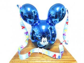 ミッキー バルーン メタリックブルー ポップコーンバケット ディズニーテーマパーク限定 スーベニア バケツ  ガイドマップ付き Mickey Popcorn Bucket Metallic Blue