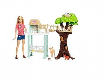 バービー 獣医 アニマルレスキュアー ドール付き プレイセット 人形 動物 Barbie Animal Rescuer Playset  You can be anythig