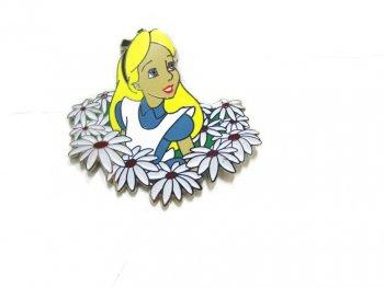 ふしぎの国のアリス w/ フラワー ピンバッジ 不思議の国のアリス Alice in Wonderland Pin