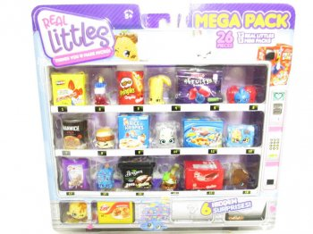 ShopKins Real Littles Mega Pack 26 pieces アメリカ 食品 ミニチュアフィギュア セット ケロッグ ライスクリスピース