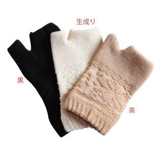 オーガニックコットン雪柄パイル手袋−色をお選びください−