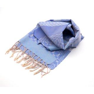 大島紬ストール|綾衣|ライトブルー