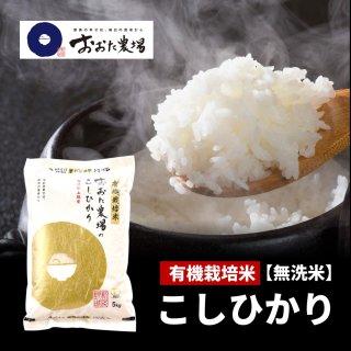 無洗米 JAS有機栽培米 コシヒカリ