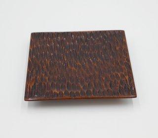 コースター 四角 ツキ目 木製 国産 漆塗り