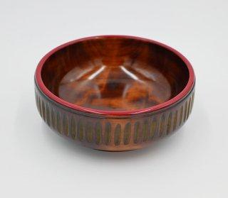 菓子鉢 のみ打 18cm 木製 国産 漆塗り