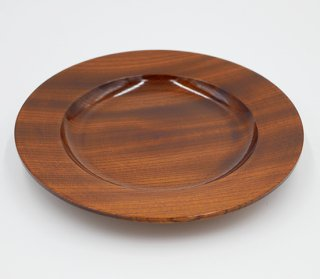 丸皿 けやき 24� 木製 国産 漆塗り