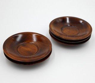 茶托 レギュラーサイズ 12� 5枚組 木製 国産 漆塗り