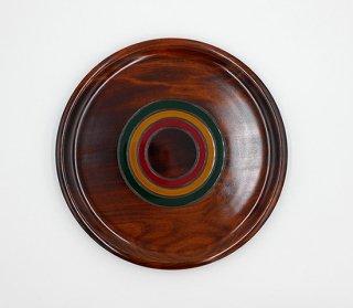 丸皿 こま塗り 27� 木製 国産 漆塗り