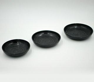 小皿 黒 木製 国産 漆塗り
