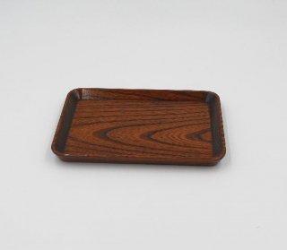 切手盆 欅 24� 木製 国産 漆塗り