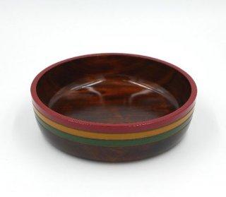 菓子鉢 こま塗  21cm 木製 国産 漆塗り