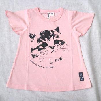 ねこプリントTシャツ|ピンク|90-100cm|nino