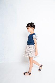ねこシフォンキュロットスカート|ベージュ|90-110cm|nino