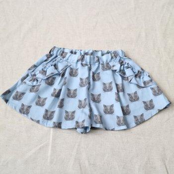 ねこプリントショートパンツ|ブルー|90cm|nino