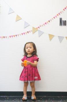 フルーツプリントワンピース|ピンク|100-110cm|nino