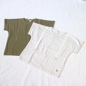 サスペンダーTシャツ|カ−キ|90cm,110cm,130cm|nino