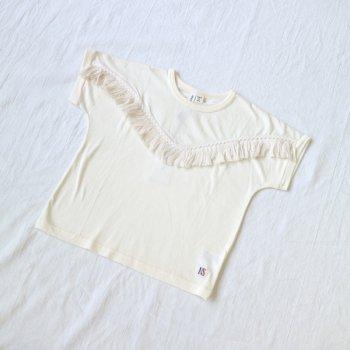 フリンジTシャツ|オフホワイト|レディース|nino