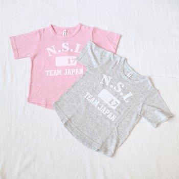 4分袖 ロゴプリントTシャツ|杢グレー|レディース|nino