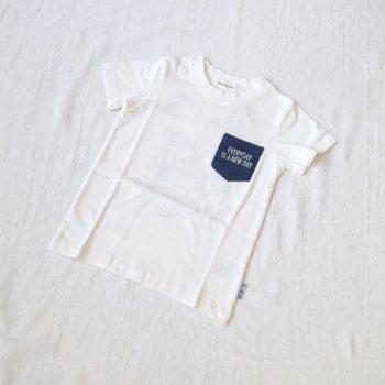 カブトムシステッチ刺繡Tシャツ|オフホワイト|100-120cm|nino
