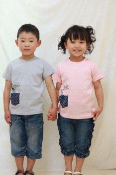 おじニットPK Tシャツ|サーモンピンク|110-130cm|nino