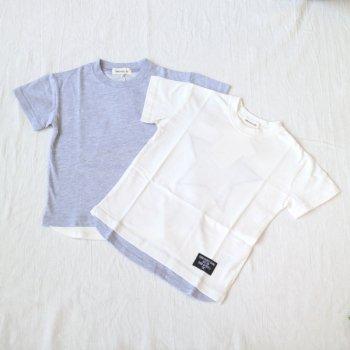 星パッチワーク ビッグシルエットTシャツ|杢グレー|110-130cm|nino