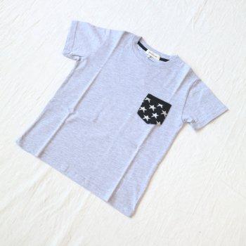 ニットポケット ビッグシルエットTシャツ|杢グレー|130-150cm|nino