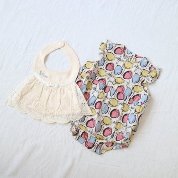 nino-nyan baby gift set スタイ+ロンパース|70cm