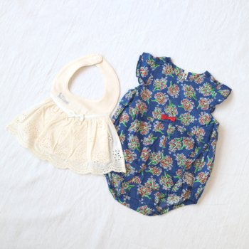 nino-nyan baby gift set スタイ+ロンパース|70-80cm