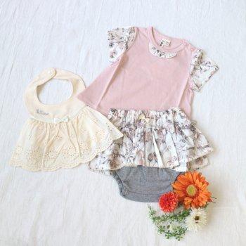 nino-nyan baby gift set スタイ+Tシャツ+パンツ|70-80cm