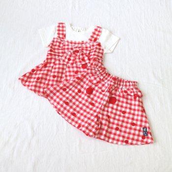 nino【セットアップ販売】Tシャツ+キュロット|オフホワイト|90-150cm