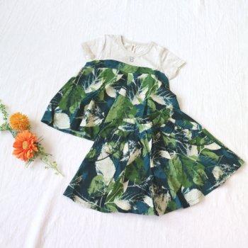 nino【セットアップ販売】Tシャツ+パンツ|グリーン|90-130cm