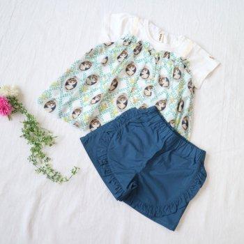 nino【セット販売】Tシャツ+パンツ|オフホワイト+ブルー|90-110cm