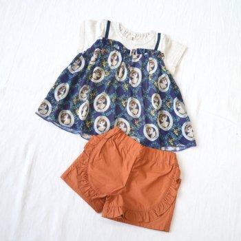 nino【セット販売】Tシャツ+パンツ|ネイビー+マスタード|90-110cm